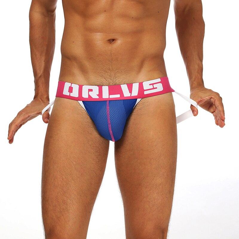 Brand Sexy Gay Underwear Men Jockstrap String Homme Thongs Cueca Gay Mens Underwear Sissy Panties Cotton Ropa Tanga OR154