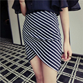 Al por mayor nueva llegada falda vendaje partido prom señora de las mujeres elegantes Faldas HASTA LA RODILLA negro blanco striped faldas-XLjiaochatwq 1