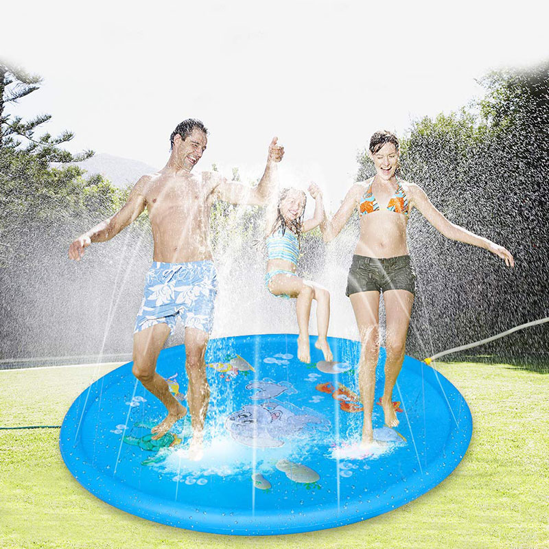 170cm Outdoor Children Playing Swimming Pool Toy Water Sprinkler Mat Lawn Cushion Cushion Pool Games Beach Party Summer Toy