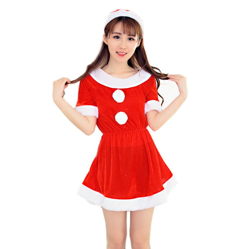 Christmas dress Women Sexy Santa Christmas Costume Fancy Dress Xmas Office Party Outfit Free shipping by registered #21