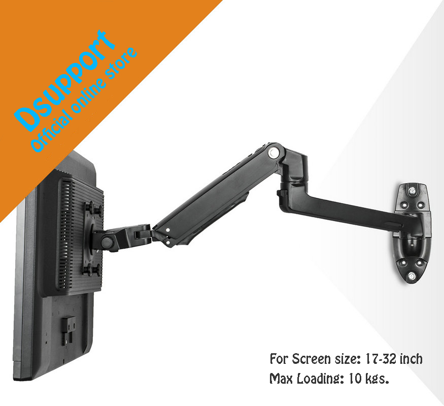 Wall Mount Aluminum Alloy Mechanical Spring Arm Monitor Holder Full Motion LCD LED Monitor Mount Arm Monitor Support-in TV Mount from Consumer Electronics    1
