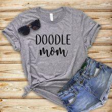 A MÃE do doodle Letras Imprimir Mulheres camiseta de Algodão Casual camisa Engraçada de t Para Senhora Menina Top Tee Hipster Y-70 do Navio Da Gota