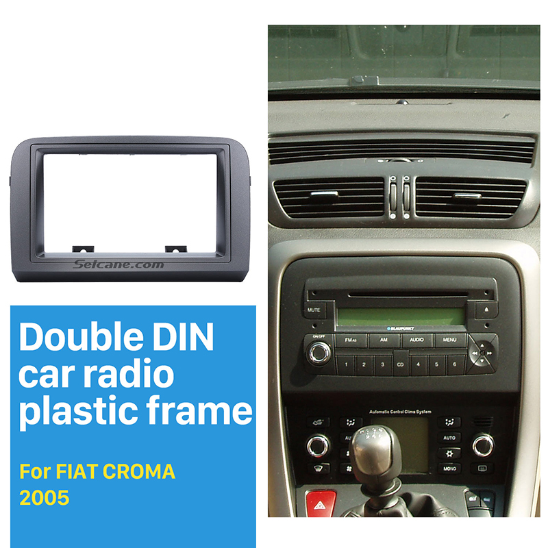 Seicane Double Din Car Radio Fascia for 2005 FIAT CROMA Stereo Dash CD 2Din Radio Frame Panel Trim Installation Kit Grey Color 11 405 car radio dash cd panel for kia skoda citigo volkswagen up seat mii stereo fascia dash cd trim installation kit