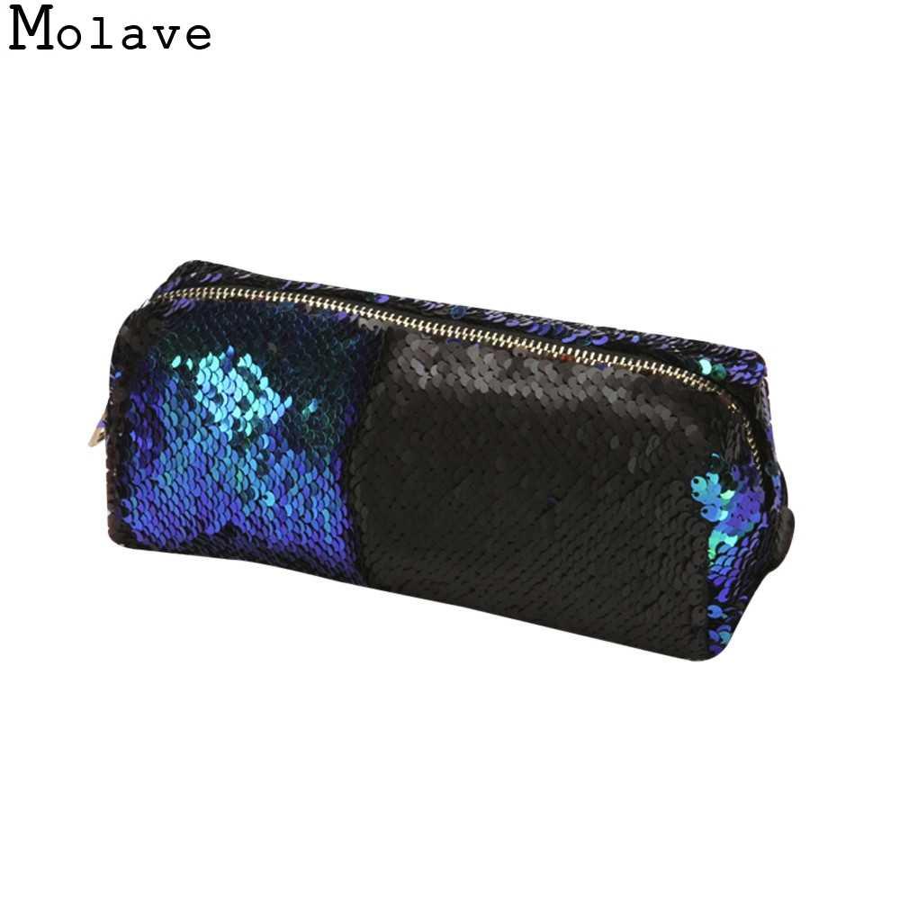 MOLAVE 2017 Marke Neue Make-Up Modo Frauen Kosmetiktasche Beleza Caso Unisex Doppel Farbe Pailletten Tasche Handtasche nov7