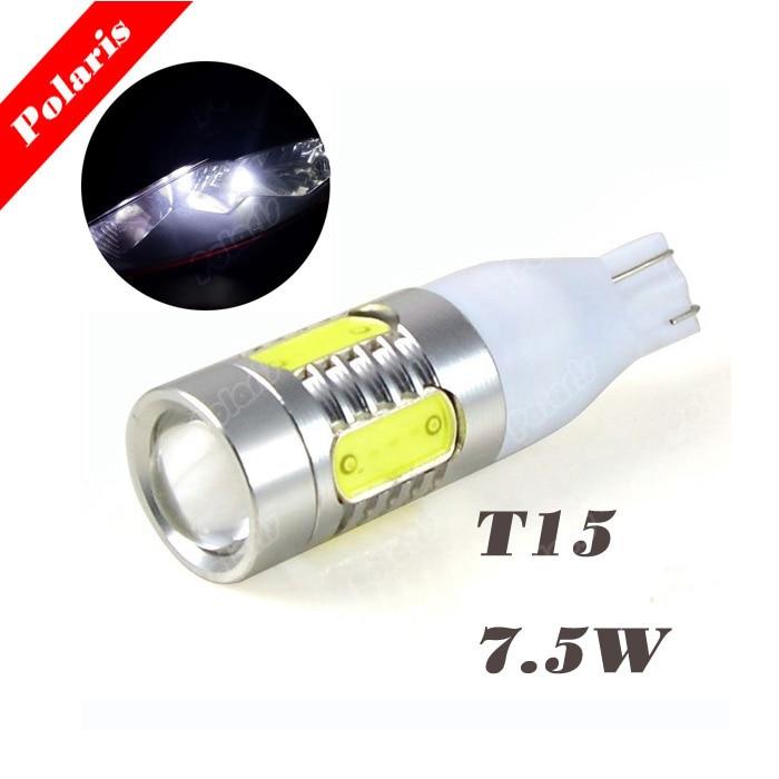 Cheap 2x light source High Power Auto 5 LED Signal Turn Braking Light Reverse Bulb T15 7.5W DC 12V White