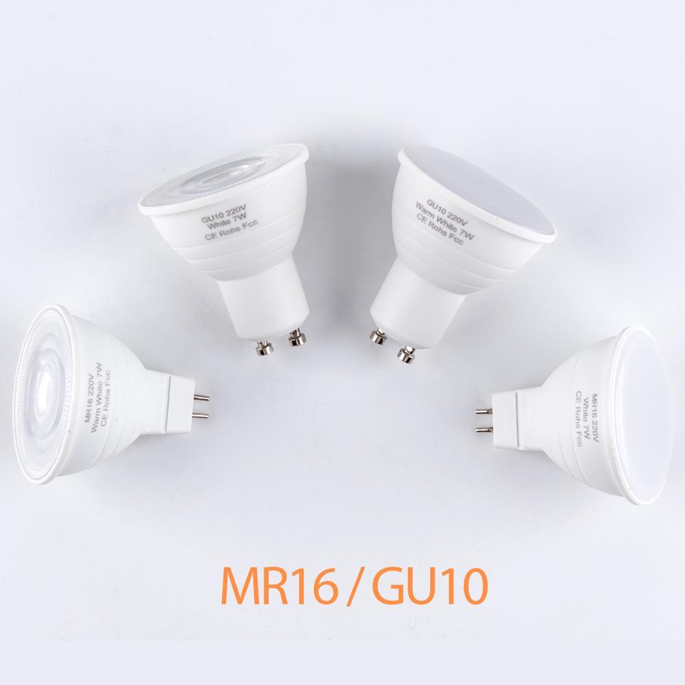 MR16 Spotlight LED Lamp 220V Bombilla GU10 LED Bulb 5W 7W Corn Bulb LED Light GU5.3 Spot Light 2835SMD Ampoule Indoor Lighting
