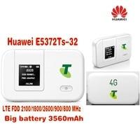 20pcs/Lots Unlocked Huawei E5372Ts 32 mifi 4G 3560mah wifi dongle 4g wireless router plus with 2pcs 4g antenna