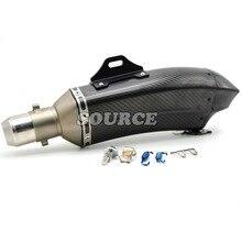 motorcycle Akrapovic muffler pipe scooter exhaust pipe carbon fiber for yamaha fz1 fazer fz6r fz8 xj6 fz6 mt-09 FZ-09