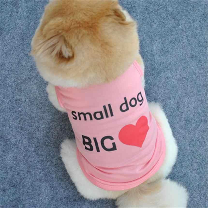 אופנה קיץ חמוד כלב מחמד אפוד גור Printe כותנה T חולצה חורף חיות מחמד אפוד לחיות מחמד חולצה קיץ בגדי כלב צעצוע טרייר # י. ל.