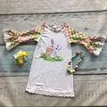 Niñas bebés ropa de los niños del partido de pascua del conejito de pascua bunny dress dress girls lace ruffle dress azect manga con accesorios