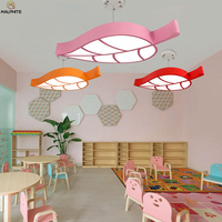 Nordic Leaves LED Ceiling Light Living Room Lighting Simple Luminaire Bedroom Pink Child  Macaron Lamp Ceiling Luminaria