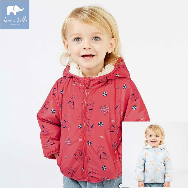 купить DB2858-C dave bella autumn infant toddler baby boys fashion hooded coat children hight quality clothes kids long sleeve clothing по цене 1623.11 рублей