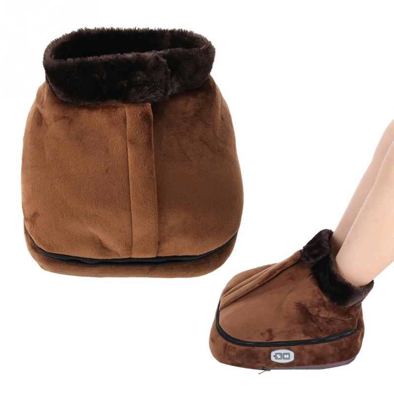 Winter Electric Plush Foot Warmer Shoes Heating Shoes Warmer For Feet Heated Slippers Shoes Warm Sofa Cushion For Office Home 220v big feet warm slippers new cartoon foot warmer shoes electric heat winter home indoor soft sneaker