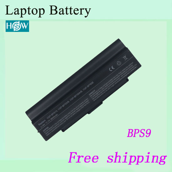 VGP-BPS9B Laptop battery For Sony VGN-CR125EB VGN-CR13B VGN-CR13L VGN-CR13P VGN-CR13R  VGN-CR13W Notebook battery