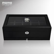 Роскошная деревянная коробка для часов с верхним окном для 10 часов, коробка для хранения деревянных часов, высококачественный чехол для часов/подарок для мужчин