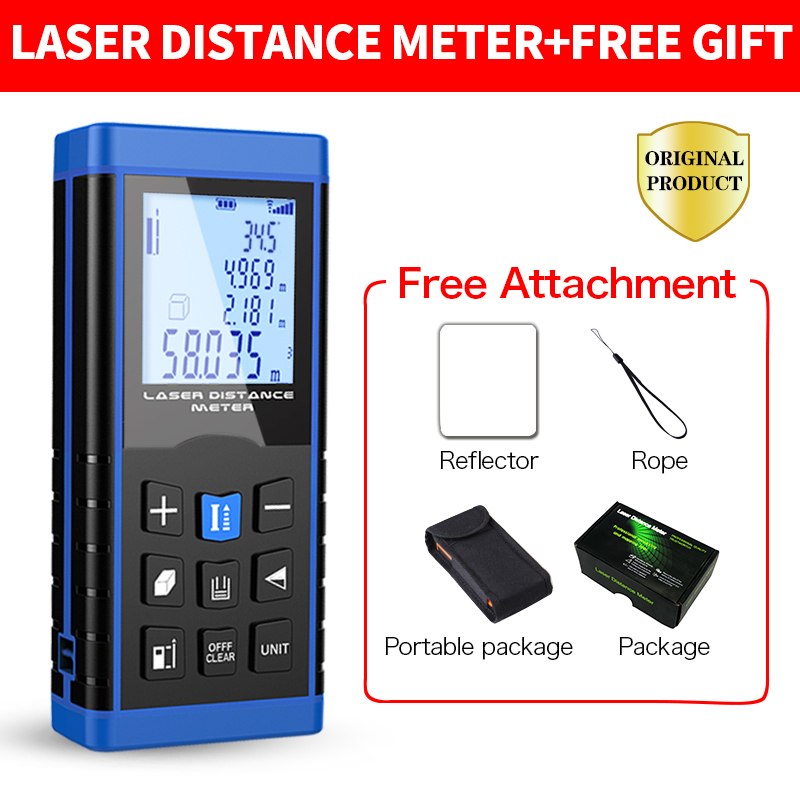 Digital Laser distance meter Laser Rangefinder Laser Range finder measure Distance/Area/Volume Level Tool 40m 50m 60m 80m 100m
