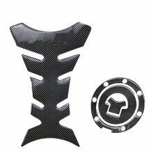 Motorbike Racing Fiber Fuel Gas Cap Cover Tank Protector Pad Sticker Decal For Honda CBR 600 F2/F3/F4/F4i RVF VFR CB400 CB1300