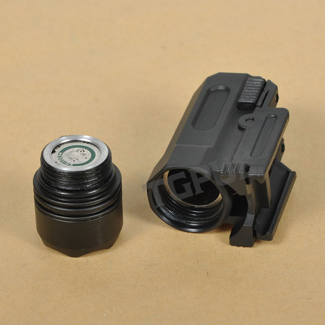 TGPUL Airsoft Mini Pistol Light QD Quick Detach Handgun Flashlight LED Rifle Gun Tactical Torch for 20mm Rail Glock 17 19 18C 24 3