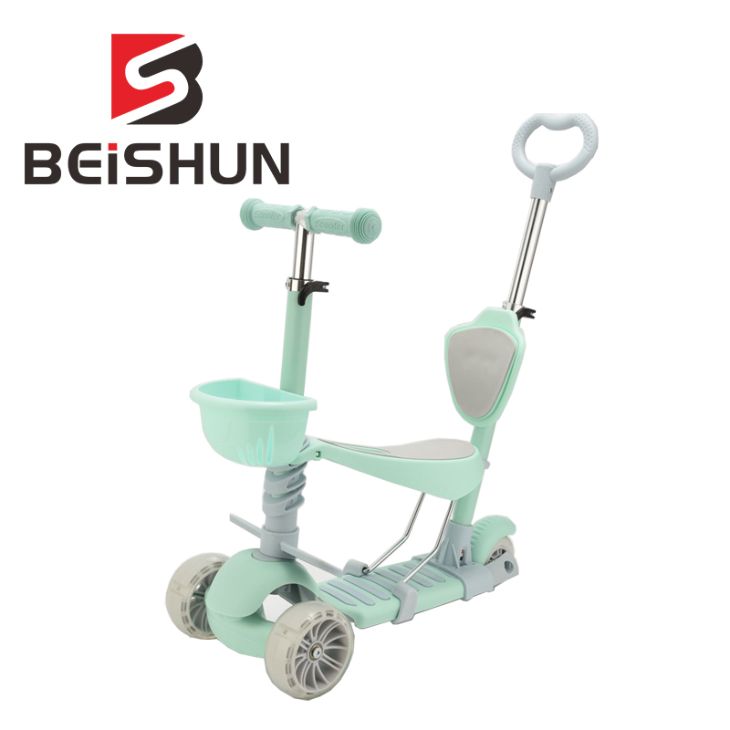 Children's Five-in-one Scooter Flash Three-wheeled Skateboard Trolley