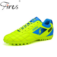 Fires Men Soccer Sneakers Comfortable Sport Shoes Leather Fabric Football Shoes Hombre Outdoor Waterproof Trainning Sneakers