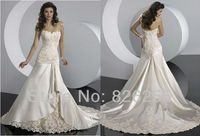 In Stock Free Shipping 2013 New Best Selling Sweetheart A Line Lace Wedding Gowns WD0333