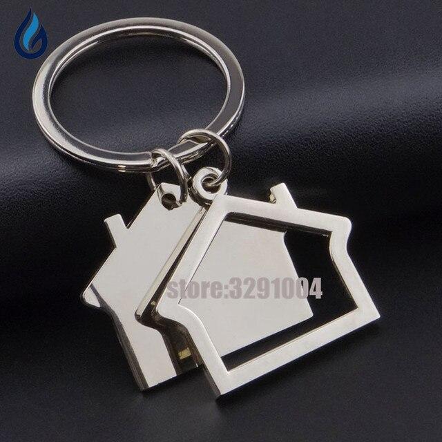 Creative Family House Shape Key Chain Holder Alloy Car Key Ring For - Audi keychain
