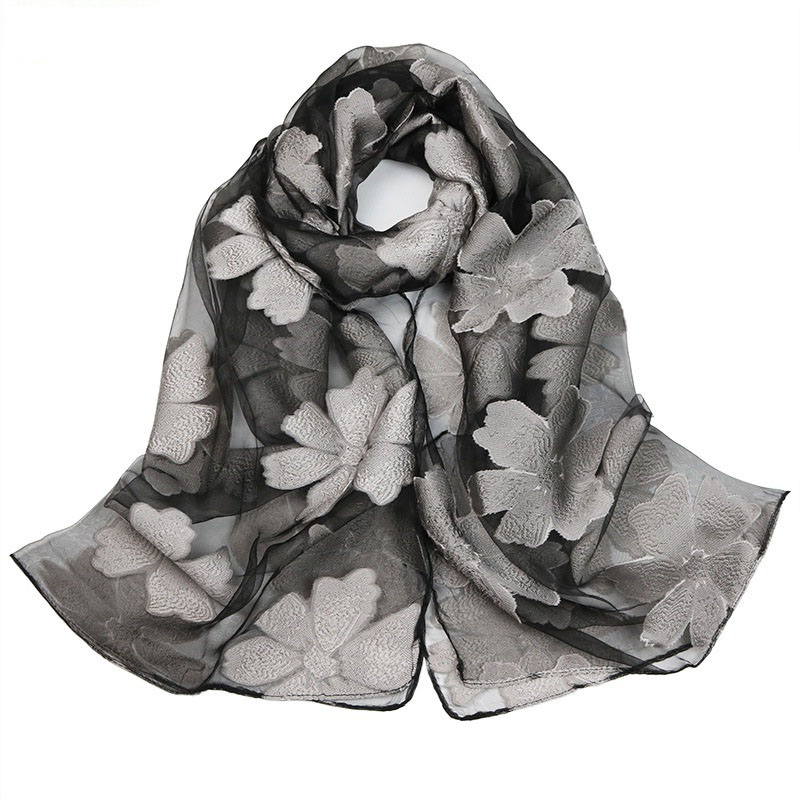 10pcs Wholesale   Scarf   Spring Silk   Scarf   Fashion Accessories Elegant Organza   Scarf     Wrap   Lightweight Long   Scarves   S9077