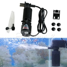 Mini 3 in 1 Aquarium Internal Filter Fish Tank Submersible Pump Spray US
