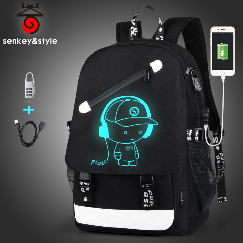 2018 Fashion Men's Backpack Teenagers Luminous School Bags Anti-thief Backpack USB Charging Laptop Backpacks Travel Male Mochila new design usb charging men s backpacks male business travel women teenagers student school bags simple notebook laptop backpack
