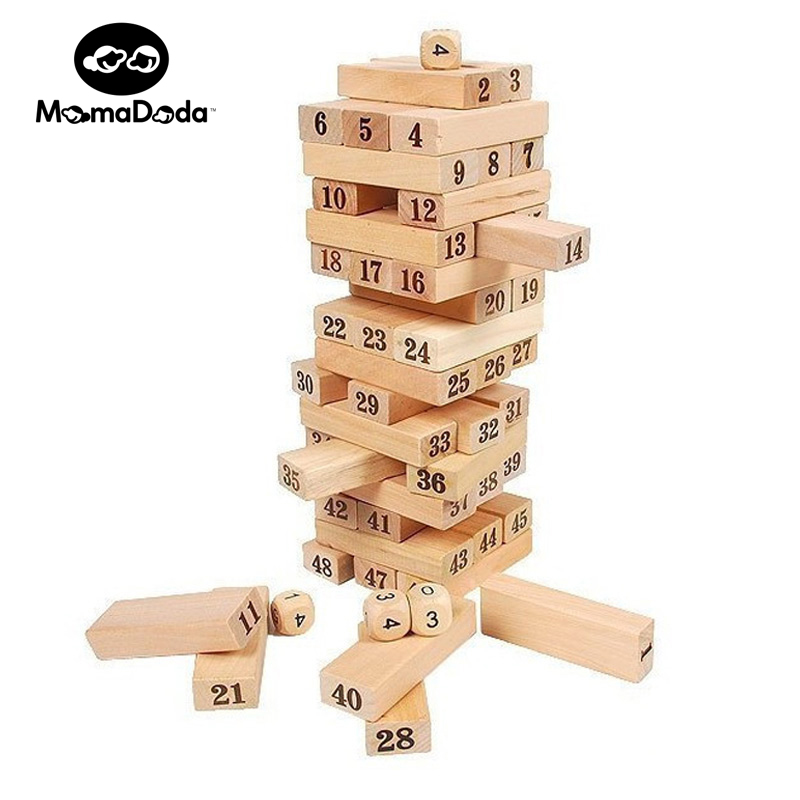 Jenga Classic Balance Board Game For Kids Toys Educational Kit Building Block Beech Wooden Montessori Kits Interactive Gift hot sale intellectual geometry toys for children montessori early educational building wooden block interesting kids toys