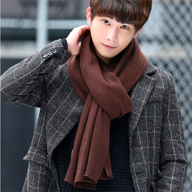 2019 NEW Cashmere Women&man Solid Scarf Winter Warm Knitted Shawl And Wraps Bandana Pashmina Long Female Foulard Thick Blanket