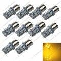10X Ámbar Amarillo 13 SMD 5050 LED 1056 7507 PY21W BAU15s 1156 150 Grados de Giro/Freno/Luz de Marcha Atrás 12 V 24 V