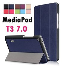 For Huawei MediaPad T3 7.0 BG2-W09 Business Painted Print PU Leather Flip Magnetic Cover Case for Honor Play Pad 2 7.0(China)