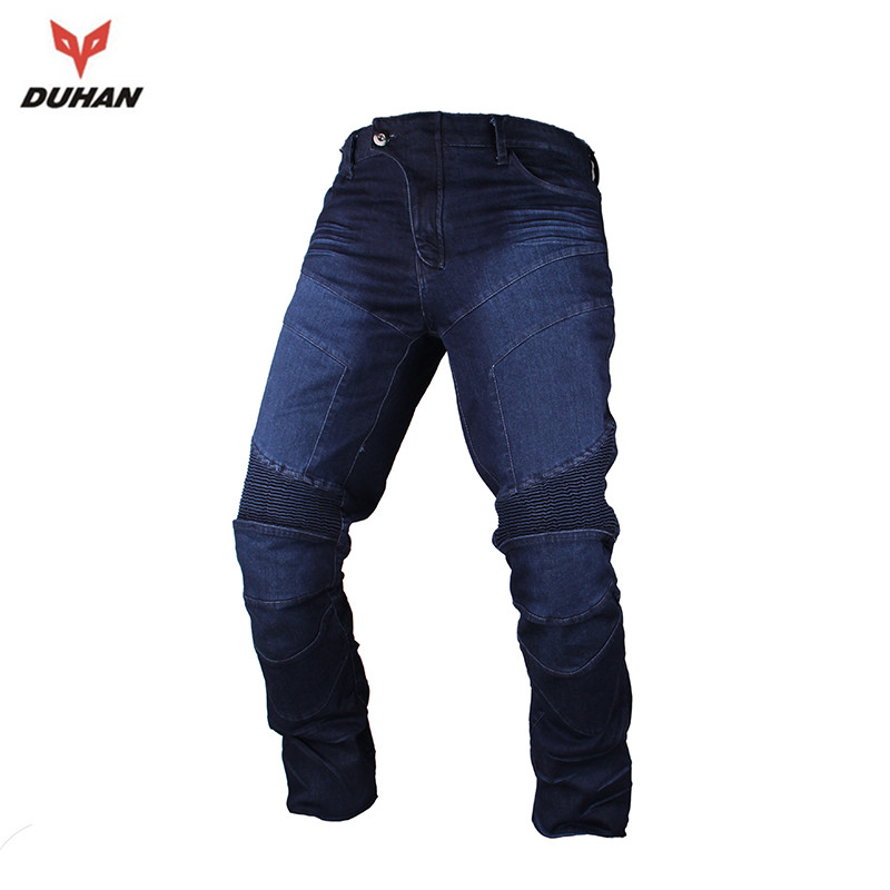 ФОТО DUHAN Men's Motorcycle Pants Moto Racing Jeans Casual Pants Motorbike Motocross Off-Road Trousers with Protectors