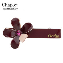 Chaplet 2016 High Quality Fashion Women Hair Accessories Flower Alligator Hair Clips Girls Rhinestone Hairgrips Free Shipping