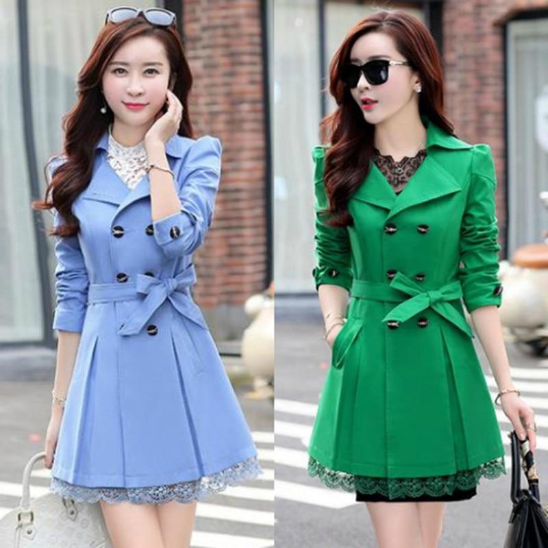 Lace Coat Hitz XL Slim Waist Long Section Of Thin Female Coat
