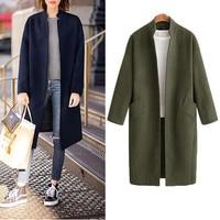 Hodisytian Winter Fashion Women Long Wool Blends Coat Elegant Casual Thick Cardigan Solid Female Cashmere Overcoat Plus Size 4XL
