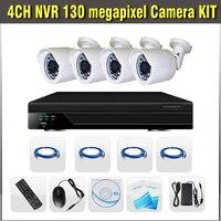 720P 4ch NVR Kit With POE HDMI 130megapixel IP IR Waterproof Cameras Video Surveillance Cctv 4channel