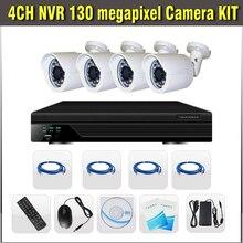 4CH NVR IP Camera Kit 1.3MP NVR Kit system 1080P H.264 Full HD CCTV NVR System Video Surveilance Security CCTV 4 Channel Onvif