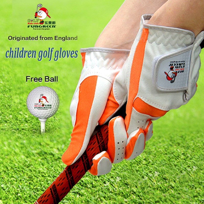 1 Pair Breathable Fabric Golf Sports Gloves Ventilated Soft Golf Glove for Kids Antiskid Washable Golf Glove for Boys and Girls