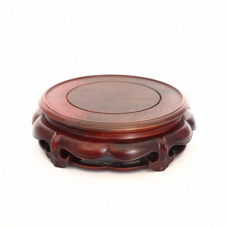 Rosewood mahogany carving of Buddha household act the role ofing is tasted base handicraft furnishing articles solid wood base