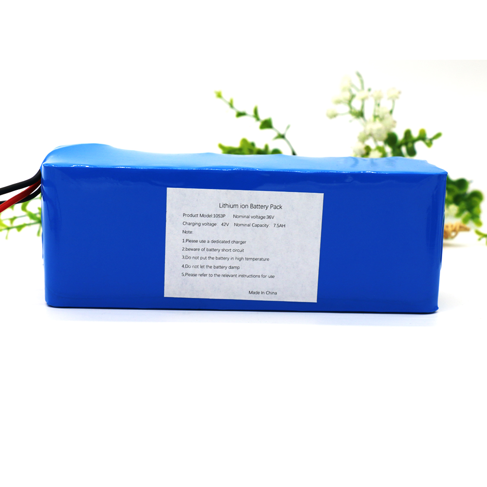 10S3P 36V 7.5Ah 500W High Power 42V 18650 Lithium Battery Pack Ebike Electric Car Bicycle Motor Scooter with 15A BMS aerdu 10s3p 36v 7 5ah high power capacity 42v 18650 lithium battery pack ebike electric car bicycle motor scooter with 15a bms