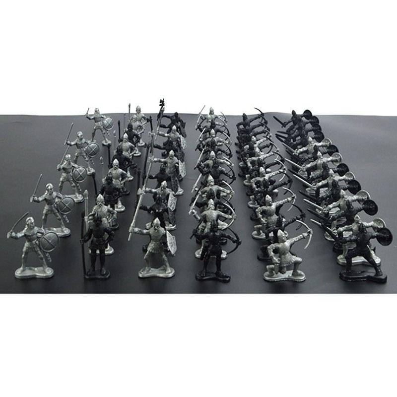60 հատ / սահմանել միջնադարյան ռազմական - Խաղային արձանիկներ - Լուսանկար 3