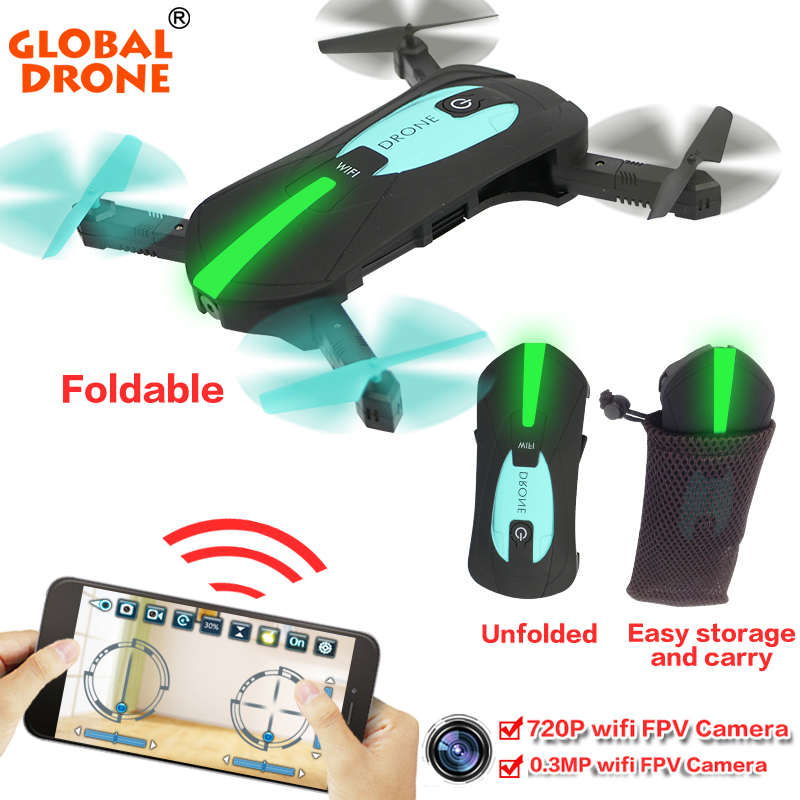 Global Drone GW018 Foldable Quadcopter Selfie Helicopter Mini Nano Dron WIFI Drones Can Carry With 720P HD Camera Pocket Drone jjrc h37 elfie rc quadcopter foldable pocket selfie drone with camera
