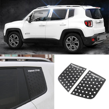 Aluminum Alloy Black C Column Window Cover Decoration Sticker Suitable for Jeep Renegade Car Syling Accessories