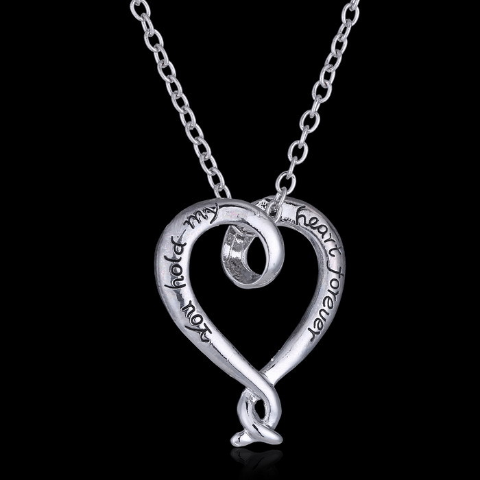 Custom name necklace you hold my heart forever eternal love custom name necklace you hold my heart forever eternal love necklace silver heart pendant jewelry from india heart pendants in pendants from jewelry aloadofball Choice Image