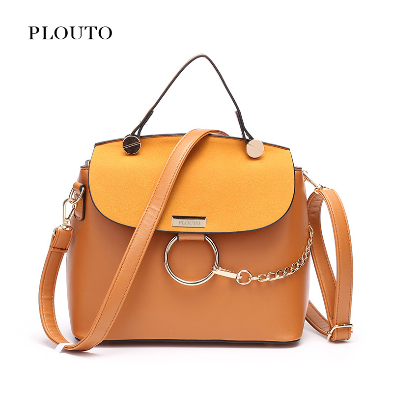 Plouto Brand Women Handbag Bolsa Feminina Frosted Leather Shoulder Bag For Women With Metal Chain Messenger Bag Lady's Tote рюкзак deuter giga цвет сливовый темно серый 28л