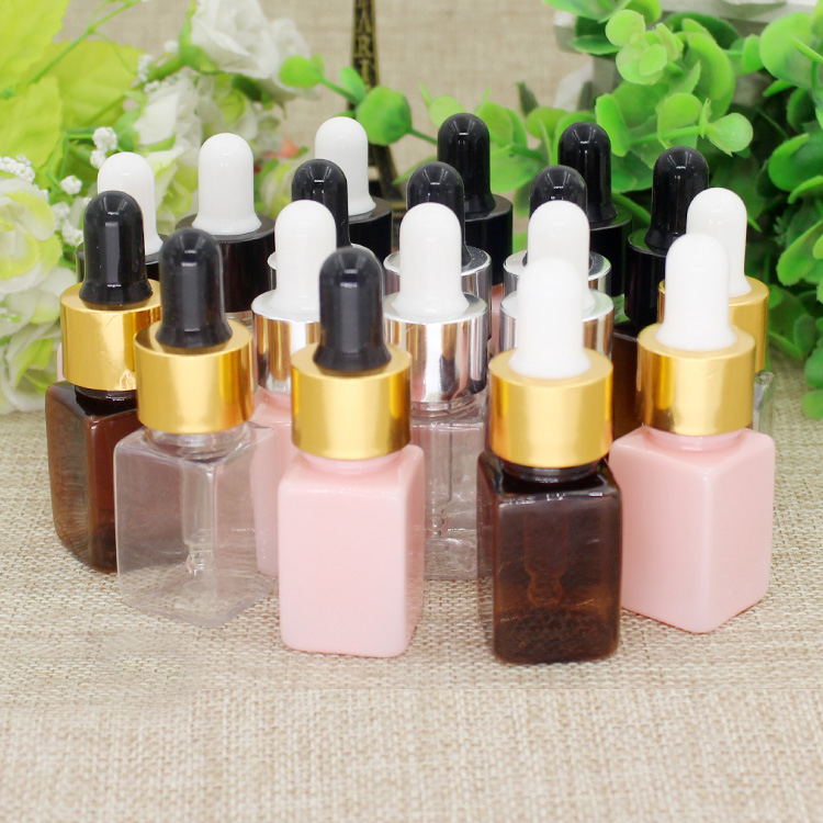 10/50/100pcs 10ml Empty Square PET Dropper Bottle with gold/black dropping cover DIY Cosmetic Essential Oil Packing Container 1000mg 100 pcs fish oil bottle for health capsules omega 3 dha epa with free shipping