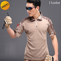 New 2016 Summer Cargo Tactical Army Military Soldiers Camouflage Short Sleeve Combat Uniform Quick Dry T Shirt Men Fitness Shirt