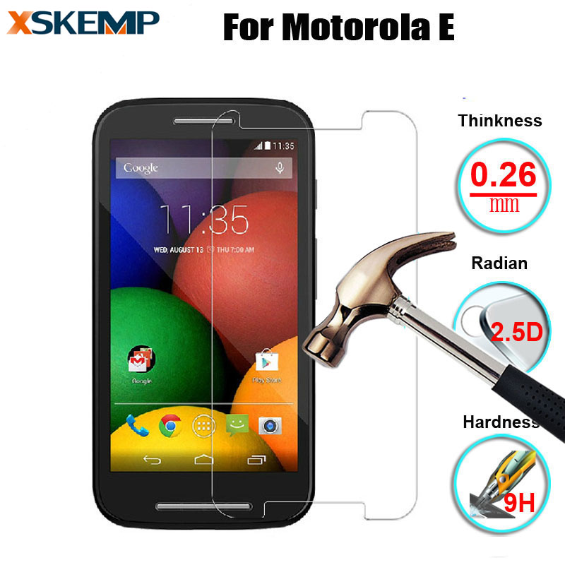 Premium Tempered Glass For Motorola Moto E 1st Gen XT1021 XT1022 9H Real Explosion-proof Anti-scratch 2.5D Screen Protector Film